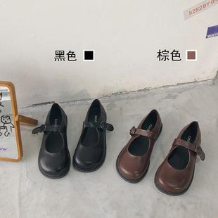 南在南方 日系复古可爱软妹jk小皮鞋玛丽珍大头娃娃鞋ins学生单鞋
