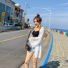 防晒衫女长款超仙海边白色外搭喇叭长袖沙滩度假雪纺2018夏季薄款