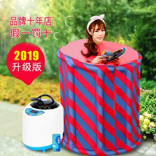 2019款汗蒸箱家用汗蒸房蒸汽桑拿浴箱月子发汗熏蒸机家庭单人折叠