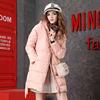 冬季中长款加厚羽绒服女欧洲站2018时尚百搭潮牌长袖带帽羽绒外套