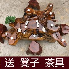 鸡翅木根雕茶几金丝楠木茶桌树根原木天然整体功夫茶台雕刻