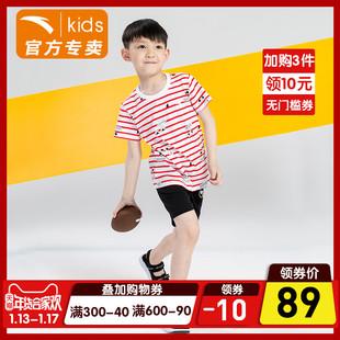 安踏儿童小童套装2018年夏季男小童活力运动套女小童可爱套装