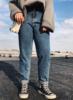 阿周家胖MM小脚欧美复古牛仔裤2019春季微胖大码女装宽松长裤