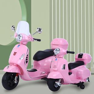 儿童宝宝电动摩托车2到8岁小孩电瓶三轮车双驱可做大人玩具车