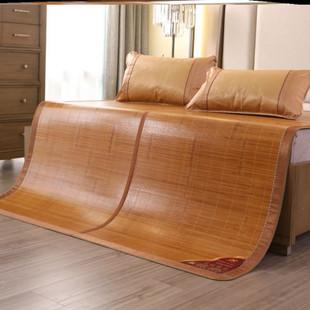 时尚凉席竹席子可折叠三件套1.8m床夏季2.0米床笠床裙款1.5可机洗