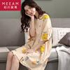 睡裙女夏季纯棉短袖小黄鸭卡通动漫套头连体睡衣女士家居服可外穿