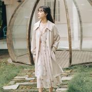 2020初秋韩版宽松气质流行英伦风大衣外套风衣女中长款小个子