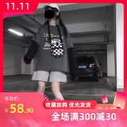 运动短裤女ins休闲热裤宽松2020夏季高腰a字阔腿中裤cec五分裤子