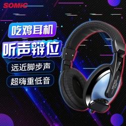 Somic碩美科ST2102立體聲頭戴式耳機電腦耳麥有線控帶麥克風話筒
