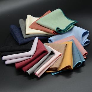 YSBYL正装韩版纯色商务西服口袋巾男士英伦休闲绒布小方巾手帕巾