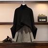 2018萝莉大码女装胖妹妹洋气裙显瘦学院减龄两件套蝙蝠袖毛衣套装