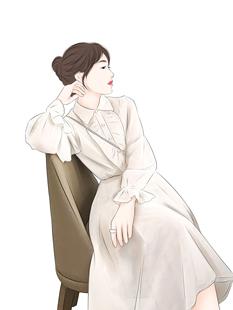 珊珊 气质温柔女法式娃娃领泡泡袖中长款荷叶边网纱连衣裙子