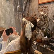 韩国网红飘带发带绑发女蝴蝶结头绳发饰秋冬百搭外出头饰发绳发圈