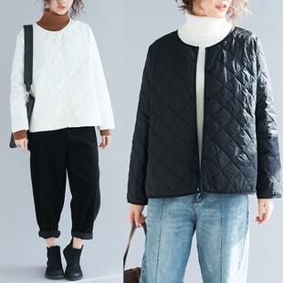 轻薄羽绒棉服女短款2018冬季大码显瘦薄款棉衣外套潮