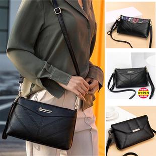 中年女包2018斜挎包软皮小包包老年女士单肩包妈妈背包