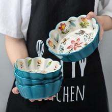 简约精致单个小碗创意个性超萌女生日式可爱家用盘子北欧餐具套装