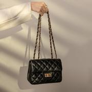 包包女2021潮韩版女士小香风菱格链条包单肩斜挎包女包包袋