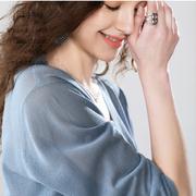 春夏季短款薄外套开衫防晒衣空调衫薄外搭棉麻学生宽松长袖