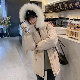 潮流女装保暖2019羽绒服棉衣短学生时尚派克大码面包服外套