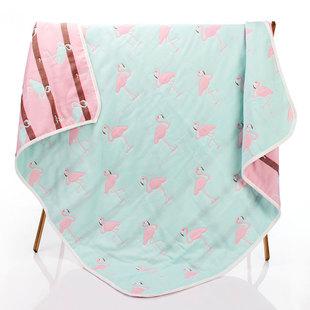 棉加加 纯棉纱布浴巾儿童毛巾被新生婴儿包被春秋盖毯幼儿园午睡