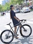 变速死飞自行车男女款竞速弯把跑公路赛车26寸21速学生双单车
