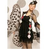 黑色蕾丝绣花配打底背心优雅连衣裙|XSC41-FFJIABG201