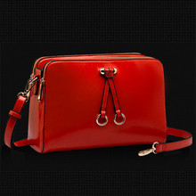 Paragraph in the spring of 2015 the new cowhide leather female BaoXiaoFang BaoChao new lady one shoulder oblique across small bag bag
