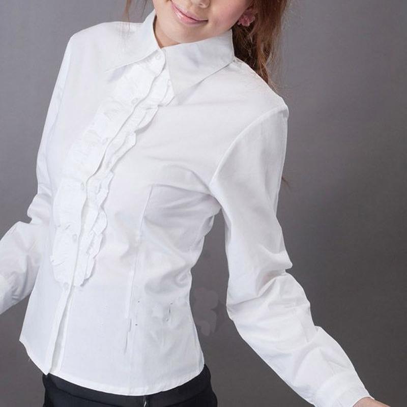 женская рубашка Лето 2013 OL хлопок новой корейской версии самостоятельной замене плюс размер женщин женщин носить солнцезащитный крем белая рубашка с длинным рукавом рубашки Повседневный Длинный рукав Однотонный цвет 2013 года Отложной воротник Один ряд пуговиц