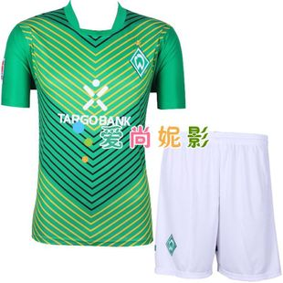 New Werder Bremen home green soccer football clothing sportswear short sleeve soccer competition clothing clothes