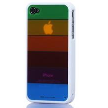 销量冠军 LIMS iphone 4 外壳 苹果4代 手机套 硅胶 彩虹壳 配件
