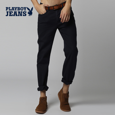 PLAYBOY Playboy men's new low-waist trousers Slim Straight jeans fashion classic autumn