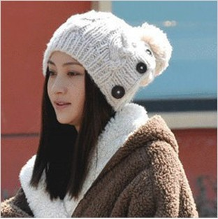Головной убор Qihafushi MZ /013 Вязаные/трикотажные шапки 100 хлопок Разное Женское % Зима