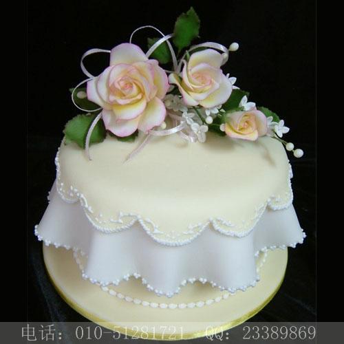 订翻糖生日蛋糕速递 婚礼翻糖蛋糕快递 北京蛋糕店 宣武蛋糕订购