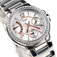 Genuina Casio Sheen serie.  El nuevo y elegante conjunto de diamantes Ladies Watch SHN-3008D-7A