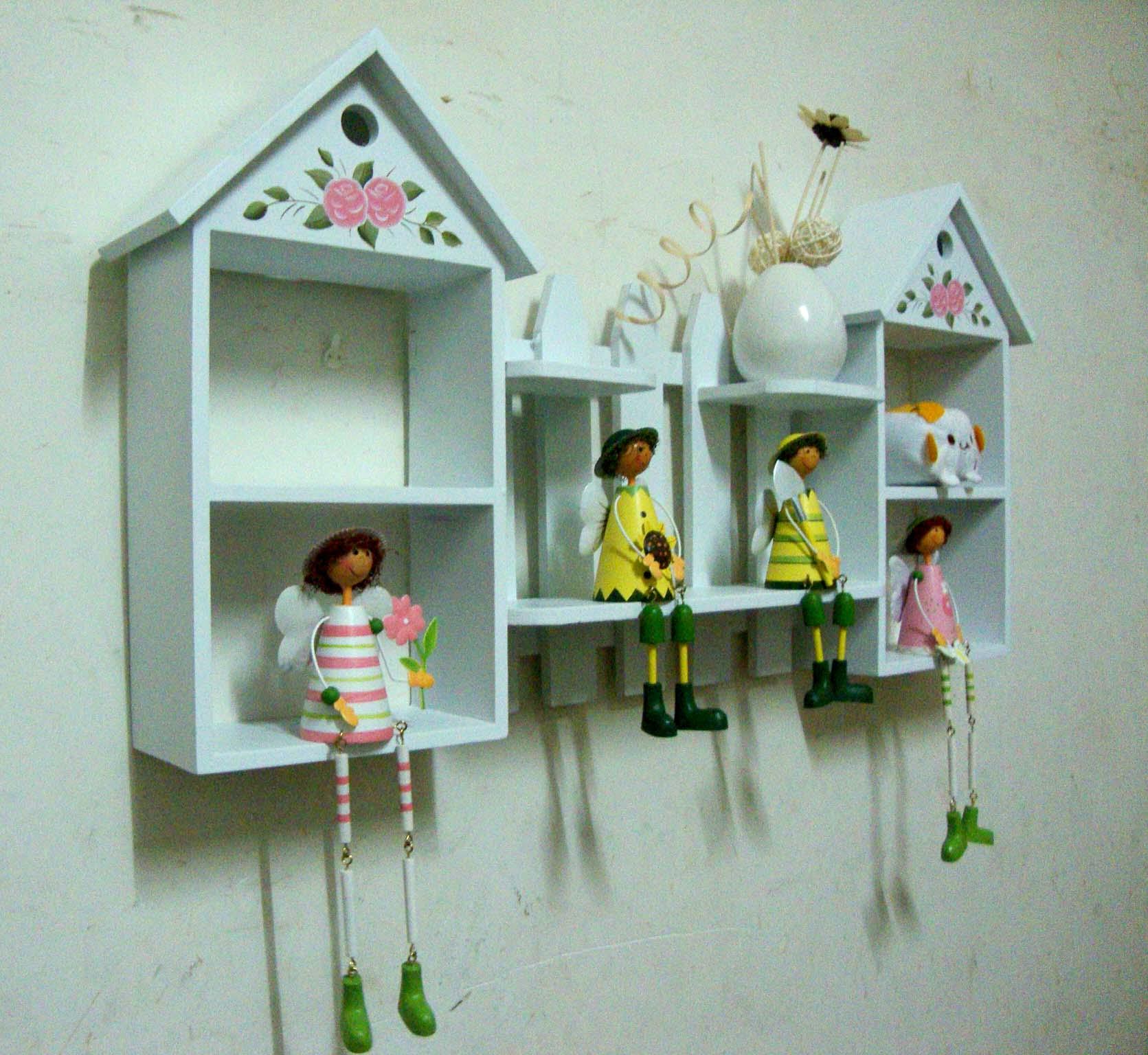 полка 田园装饰架 隔板 置物架 创意家居 壁挂架 墙架 搁板儿童房装饰架