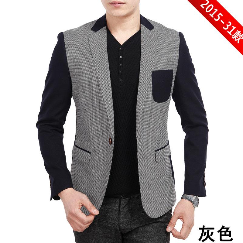 2014春装新款柒牌正品男装外套男士西服一粒扣韩版小西装T2015-31
