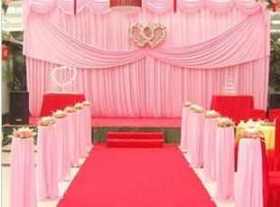 新款婚庆背景纱幔舞台背景幕布结婚场地布置沙曼婚庆道具批发