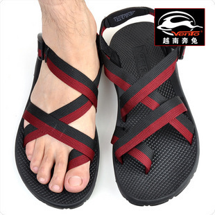 Packages mailed 2014 Vietnamese men sandals outdoor waded Roman summer fashion leisure shoes 117/38/44 yards