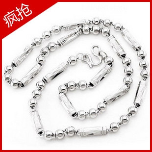 Platinum plated 925 sterling silver necklaces sterling silver mens necklace men silver necklace promotional 38 yuan  of ~~