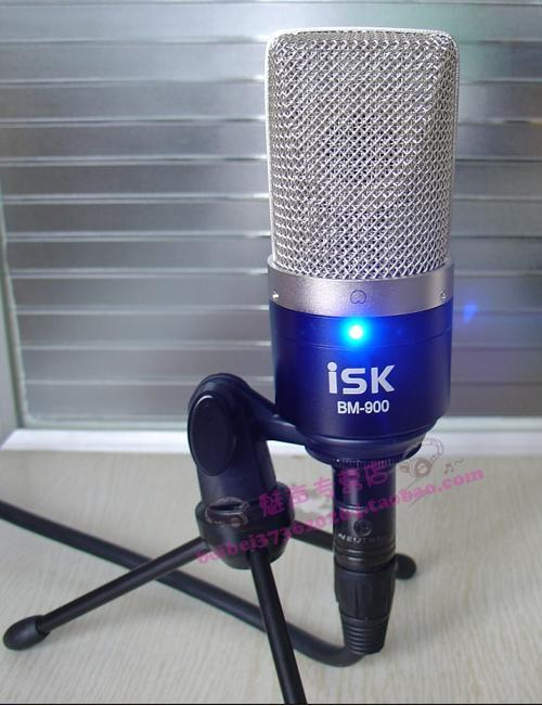 promotional genuine isk bm-900 capacitor wheat set wireless recording microphone computer k song microphone stand