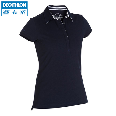Decathlon short-sleeved polo shirt female sun protection clothing sunscreen big yards cotton polo shirts POLO TRIBORD