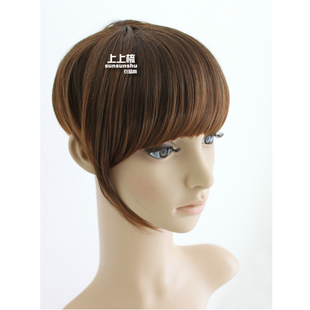 Combs temples wig wigs Qi Liuhai belt take  lead in  top flat fringe fringe