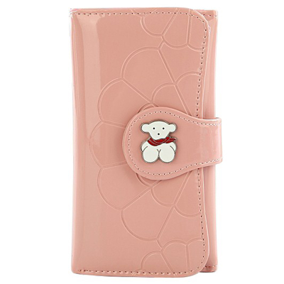Wallet female long paragraph Miss Han Ban purse Post new fashion women's triple 2015 multifunction cute pink wallet