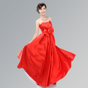 Angel culvert MaxMara new style wedding dress skinny Korean dress red dresses skirt evening dress LF139