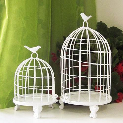 鸟笼固)�_铁艺鸟笼 鸟笼花架 欧式鸟笼装饰 办公桌花架摆设 装饰花笼 花笼