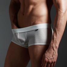 2 a package mail XUBA men's underwear large mesh breathable sexy mesh pants pants