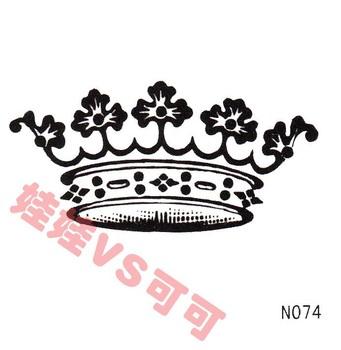 在线商城的满28元 黑色纹身贴纸 防水 女 欧美流行创意儿童贴 n074