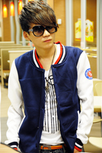2012 new men's jacket spring men korean slim casual fashion stand-collar jacket baseball uniform jacket