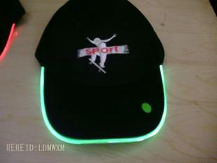 LED glow hats, glitter hats, fiber optic hats, light hat, hat