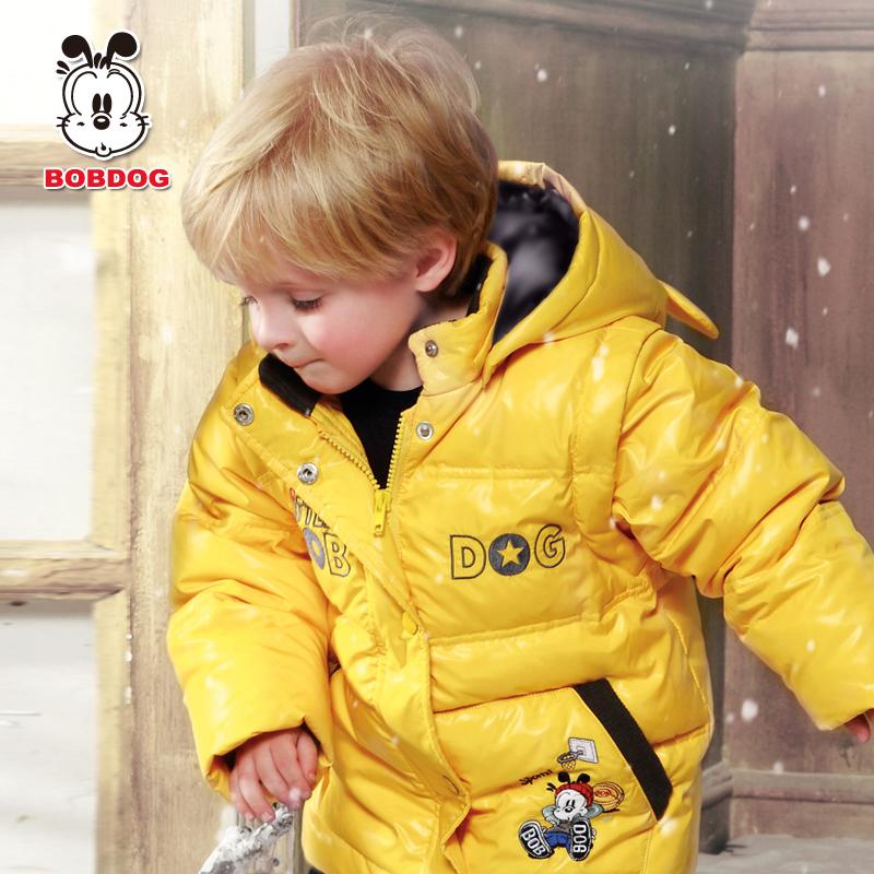 Пуховик детский Bobdog 41dsu107 90 Bobdog / bob dog Для отдыха 90 белый утиный пух О-вырез % Персонажи мультфильмов